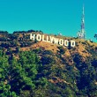 Hollywood sign in Mount Lee, Los Angeles, United States - 图库照片