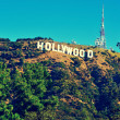 Hollywood sign in Mount Lee, Los Angeles, United States - Stock Photo