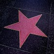 Hollywood Walk of Fame in Los Angeles, United States - Stock Photo