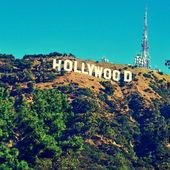 Hollywood znak w górze lee, los angeles, stany zjednoczone ameryki — Zdjęcie stockowe