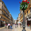 Calle Larios in Malaga, Spain - Stock Photo