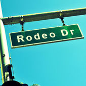 Rodeo Drive sign, in Beverly Hills, US — Stock Photo