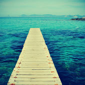 Boardwalk in Formentera, Balearic Islands — Stock Photo