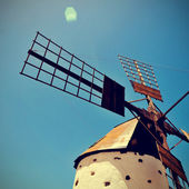 Old windmill Fuerteventura, Canary Islands, Spain — Stock Photo