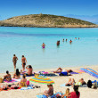 Ses Illetes Beach in Formentera, Balearic Islands, Spain - Stock Photo