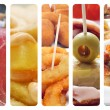 Spanish tapas collage — Stock Photo #19509971