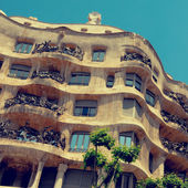 Casa Mila or La Pedrera in Barcelona, Spain — Stock Photo