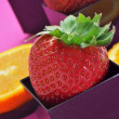 Strawberries and orange slices - Foto de Stock
