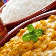 Stock Photo: Kormcurry and basmati rice