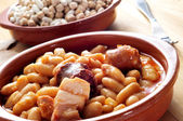Fabada asturiana, typical spanish bean stew — Stock Photo