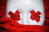 Blind white mask — Stock Photo