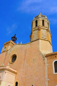 Church of Sant Bartomeu i Santa Tecla Sitges, Spain — Stock Photo