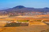 ラ オリーバ町とラ アリーナ火山フェルテベントゥラ島、カナリア諸島 — ストック写真