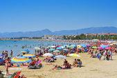 Prat de en fores pláž, cambrils, španělsko — Stock fotografie