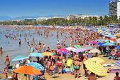 Llevant stranden i salou, spain — Stockfoto