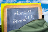 March break — Stock Photo