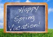Happy spring vacation — Stock Photo