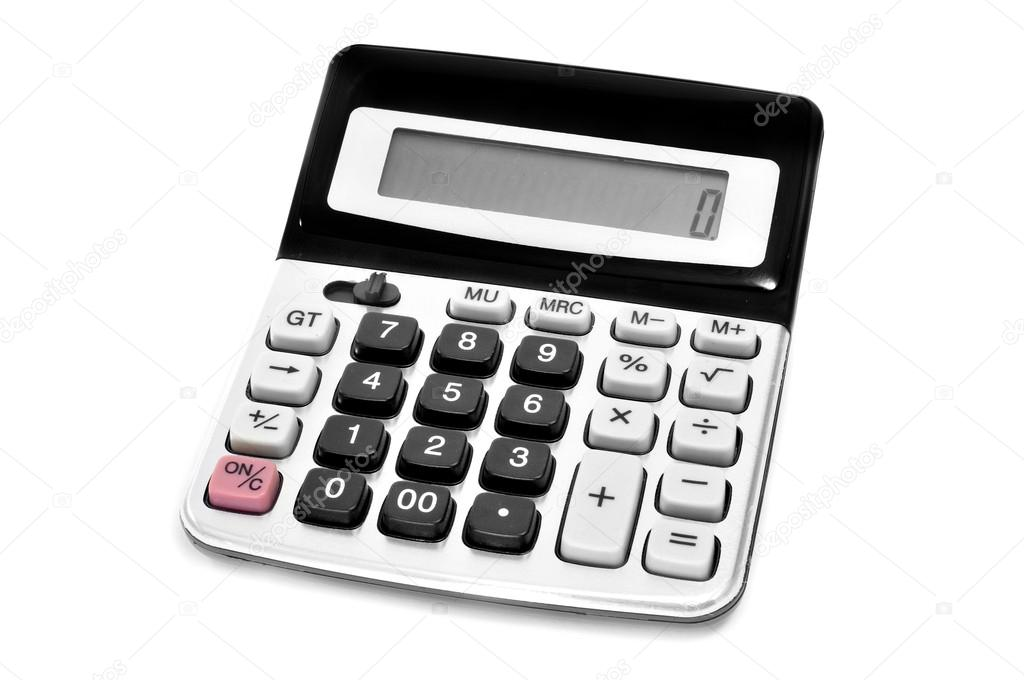 An electronic calculator on a white background — Stock Photo #21015357