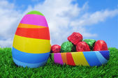 Easter egg on the grass — Stock Photo