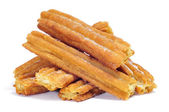 Porras, thick churros typical of Spain — Stock Photo