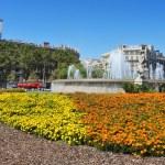 Plaça de catalunya w Barcelonie, Hiszpania — Zdjęcie stockowe