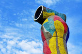 Dona i Ocell, a sculpture of Joan Miro, in Barcelona, Spain — Stock Photo