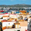 Old town and port of Ibiza Town, Balearic Islands, Spain - Stock Photo