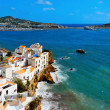 Sa Penya District in Ibiza Town, Balearic Islands, Spain - Stock Photo