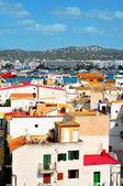 Gamla staden och hamnen i ibiza stad, balearerna, spanien — Stockfoto