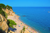La Roca Grossa Beach in Calella, Spain — Stock Photo