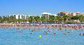 Pláž llevant, salou, španělsko — Stock fotografie