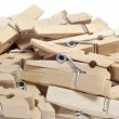 wooden clothespins — Stock Photo