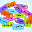 Search engine optimization and internet concepts — Stock Photo