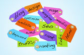 Search engine optimization and internet concepts — 图库照片