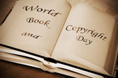 World book and copyright day — Stock Photo
