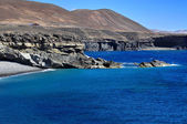 Ajuy wybrzeża w fuerteventura, wyspy kanaryjskie, hiszpania — Zdjęcie stockowe