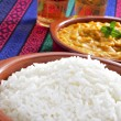 Basmati rice and korma curry — Stock Photo