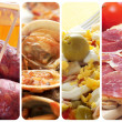 Spanish tapas and dishes collage — Stock Photo