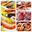 Stock Photo: Spanish tapas and dishes collage