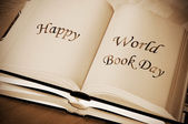 Happy world book day — Stock Photo