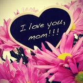 я люблю тебя, мама — Стоковое фото