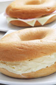 Stuffed bagels — Stock Photo