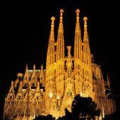 Sagrada familia in barcelona, spanje — Stok fotoğraf