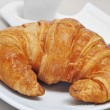 Stock Photo: Croissant and coffee