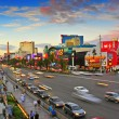 Las Vegas Strip at sunset, Las Vegas, United States - Stock Photo