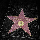 Groucho Marx star in Hollywood Walk of Fame, Los Angeles, United — Stock Photo