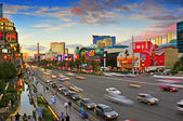 Las Vegas Strip at sunset, Las Vegas, United States — Zdjęcie stockowe
