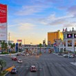Las Vegas Strip at sunset, Las Vegas, United States — Stock Photo