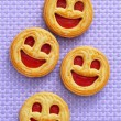 Smiley biscuits — Stock Photo
