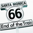 Santa Monica, 66, End of the Trail sign — Stock Photo